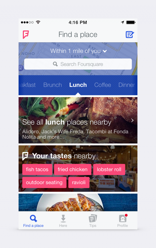 Foursquare new look