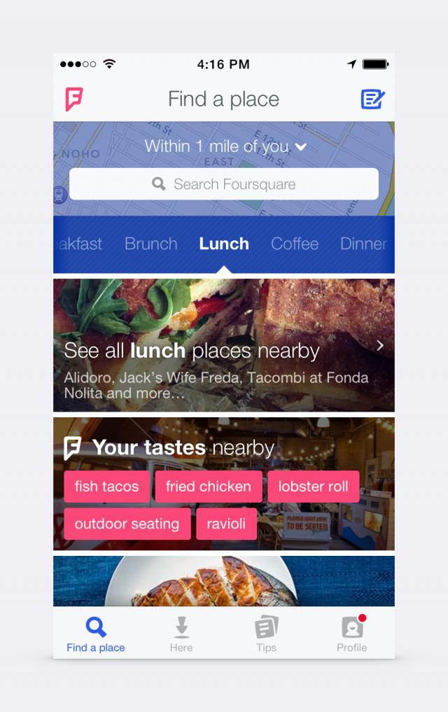Foursquare new look