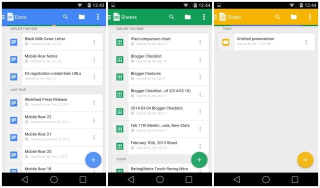 Google Docs Sheets Slides update