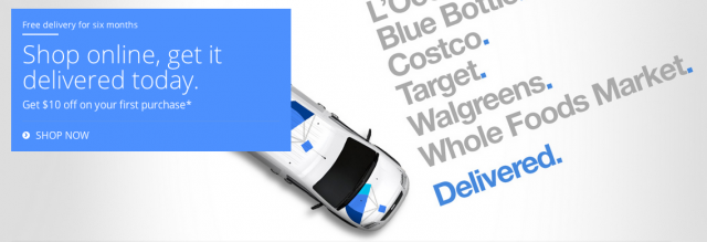 Google Shopping Express header