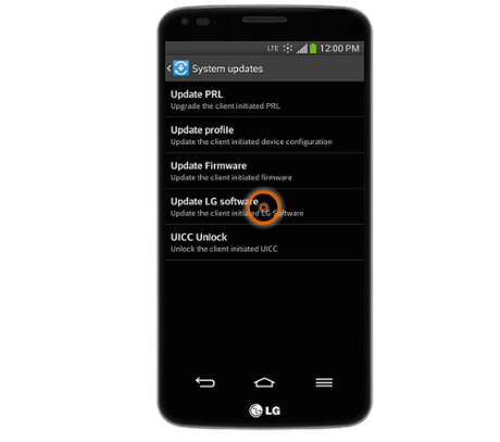 LG G Flex update