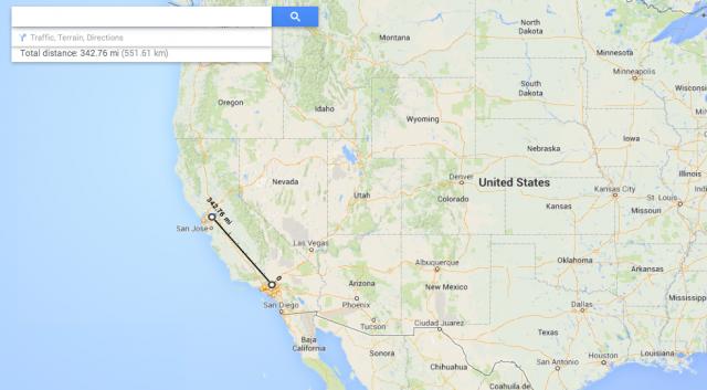 New Google Maps measurement calculations