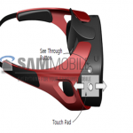Samsung Gear VR headset render