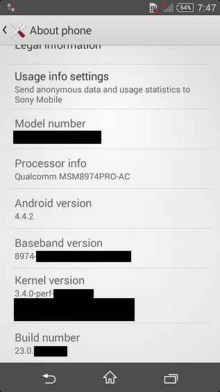 Sony Xperia Z3 Compact specs
