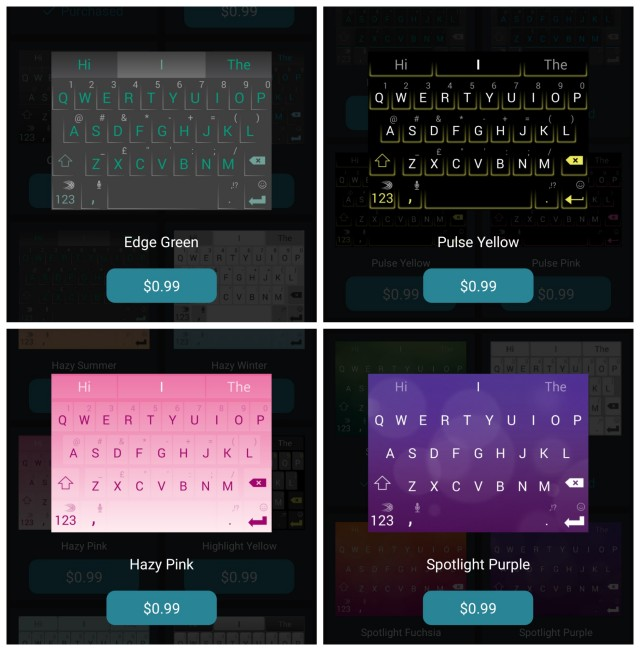 SwiftKey update new themes