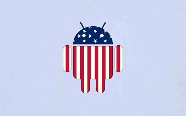 android bug droid american flag