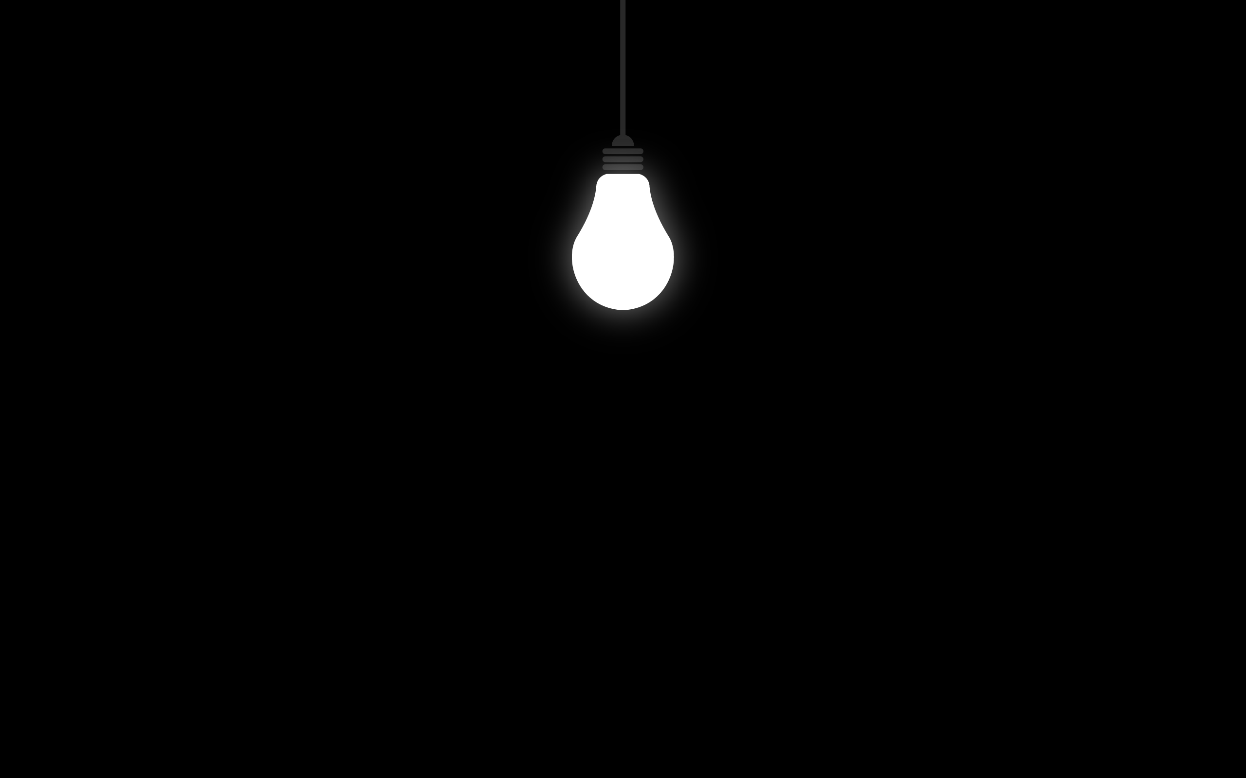 Hd wallpaper with black background - Lonely Light Bulb