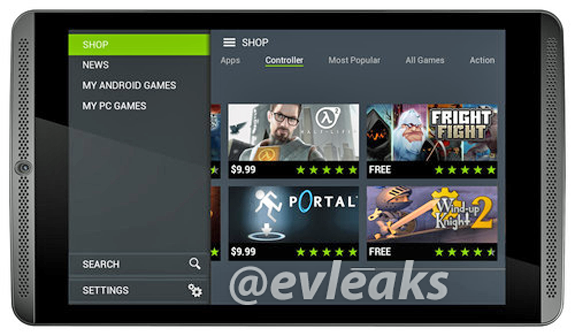 nvidia shield tab EVLEAKS