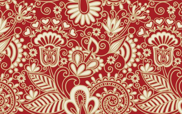 red floral crazy