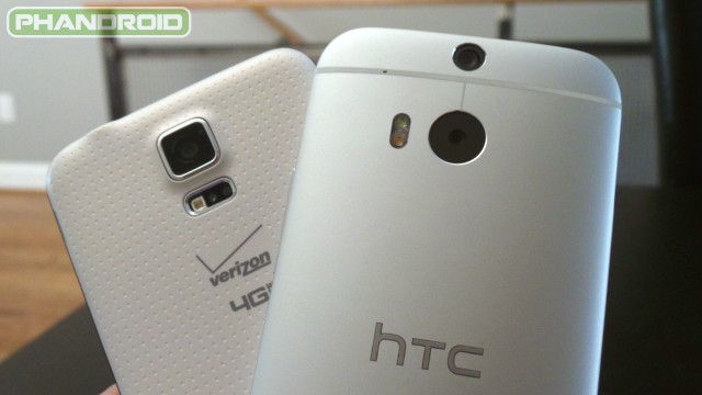samsung galaxy s5 vs htc one m8 camera