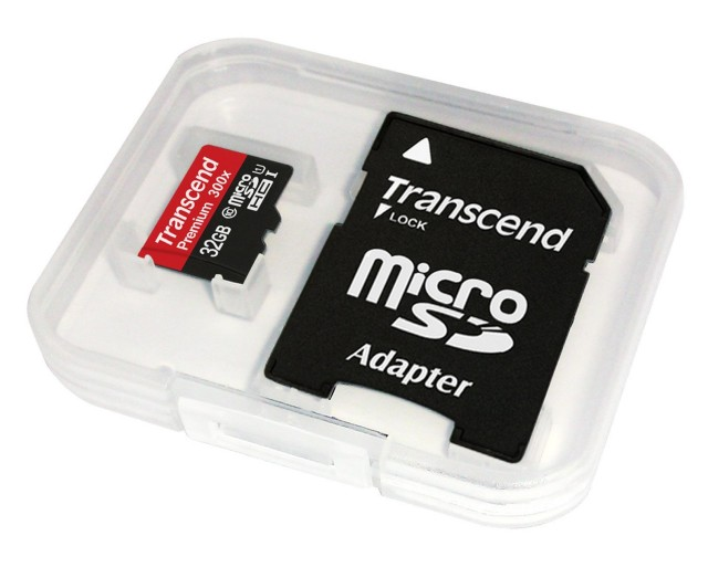 transcend microsd with adapter