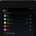 Android Jelly Bean users and profiles restricted