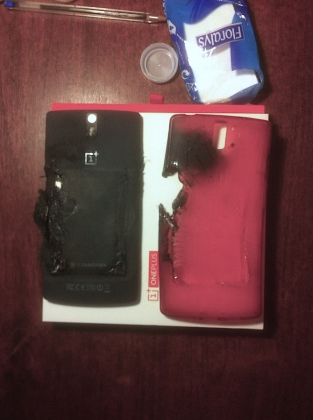 Exploding OnePlus One 1