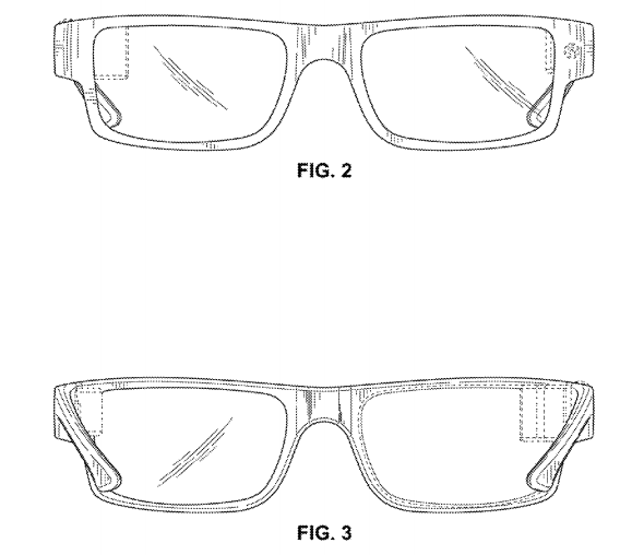 Google Glass Patent new front back