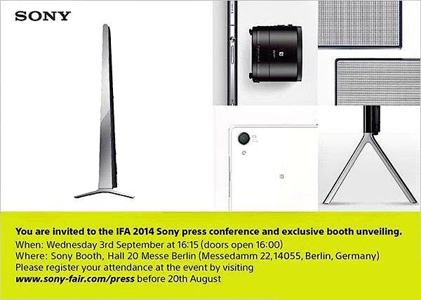 Sony IFA 2014 invite