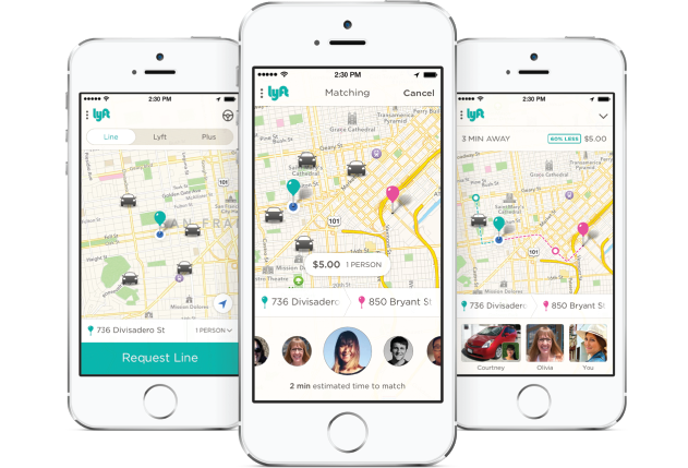iPhone Lyft Line app iOS