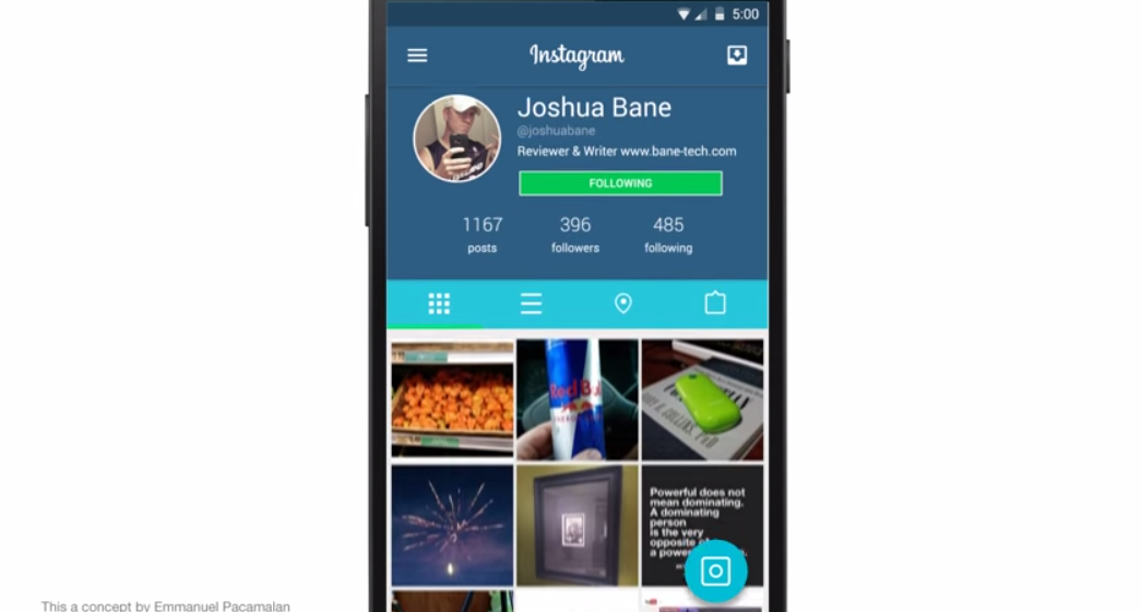 This Is How Instagram Could Look With A Material Design