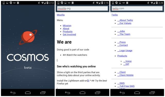 Cosmos Browser Beta