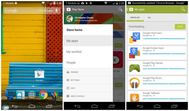 Moto X 2014 Google Play Store apps