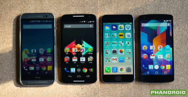 Moto X 2014 display size comparison DSC07045