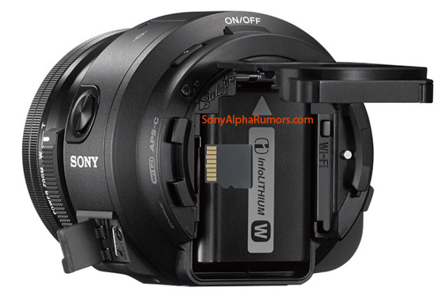 Sony QX1 back