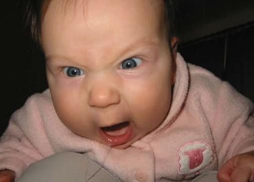 raging baby