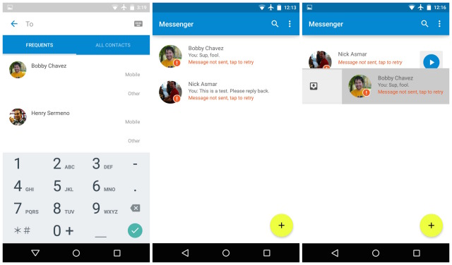 Android 5.0 Lollipop Messenger 1