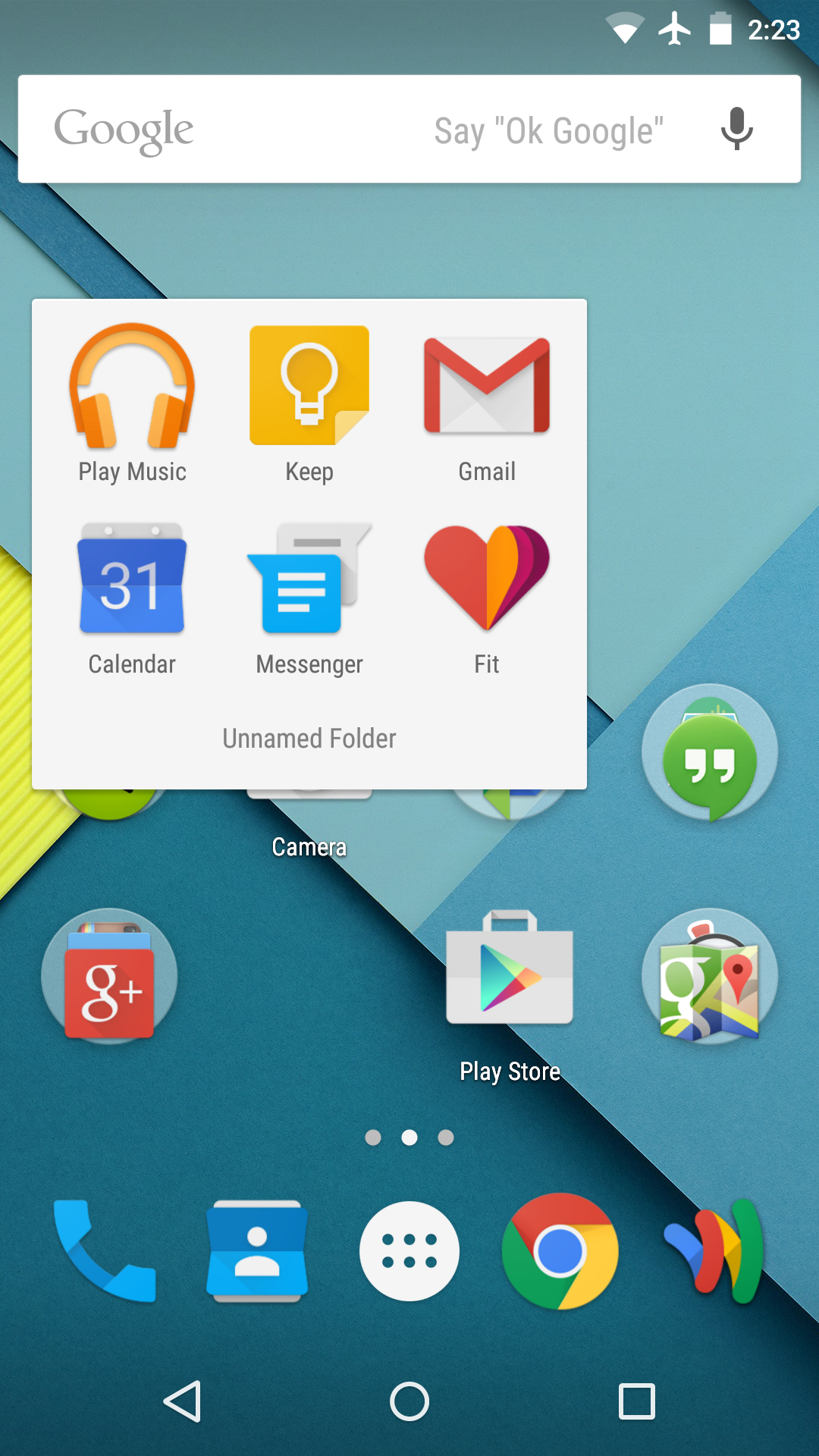 Android 5.0 Lollipop Screenshot