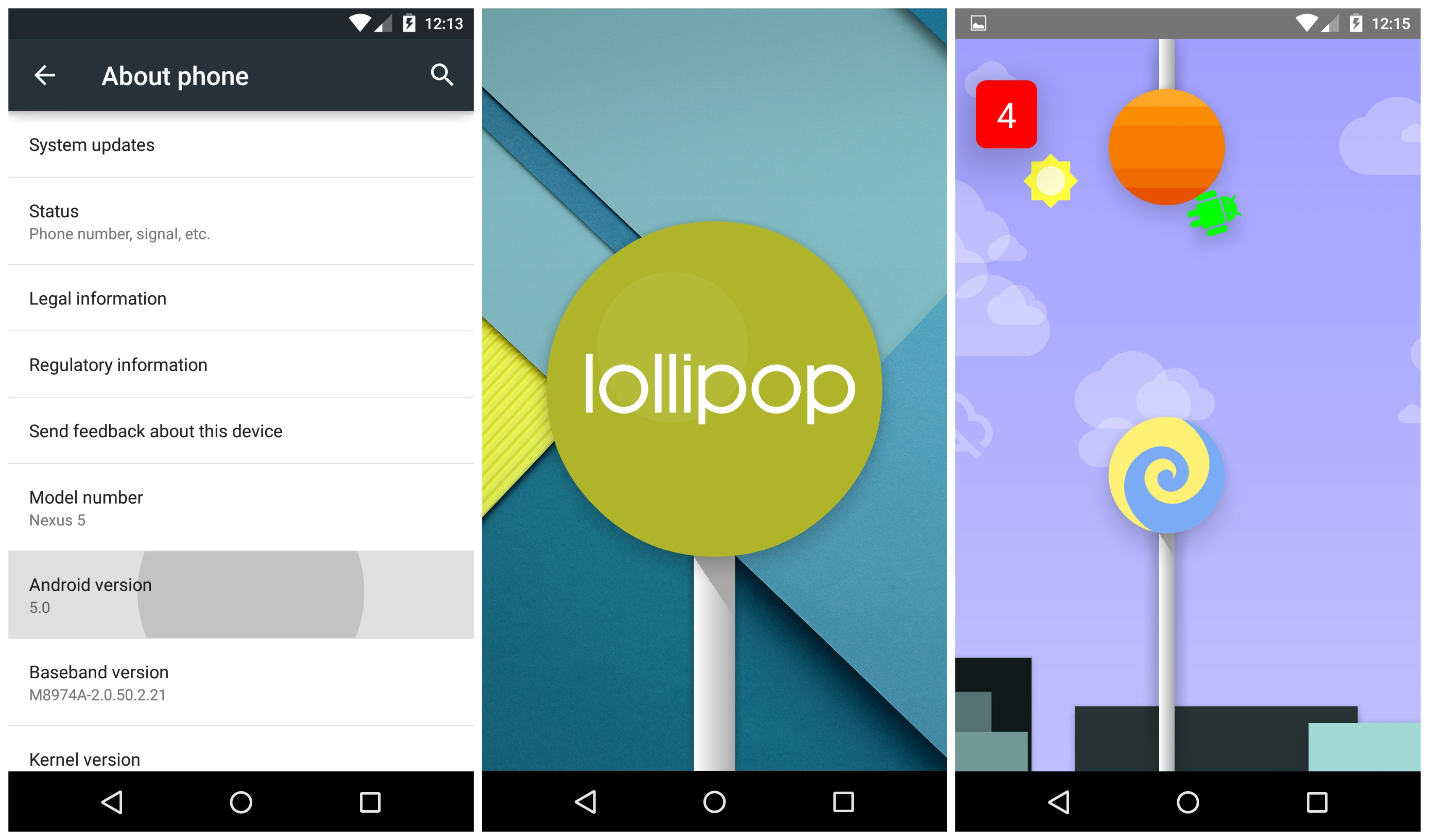 Android 5 0 1 lollipop and 5 0 2 update for nexus devices android - Android 5 0 Lollipop Hidden Game Easter Egg