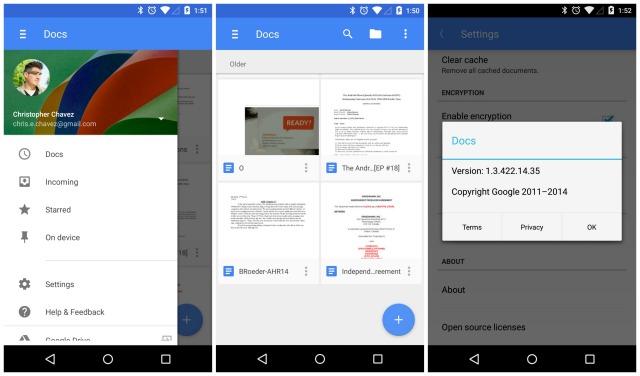 Google Docs update Material Design