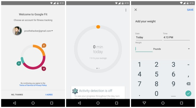 Google Fit leak Android 5.0 Lollipop