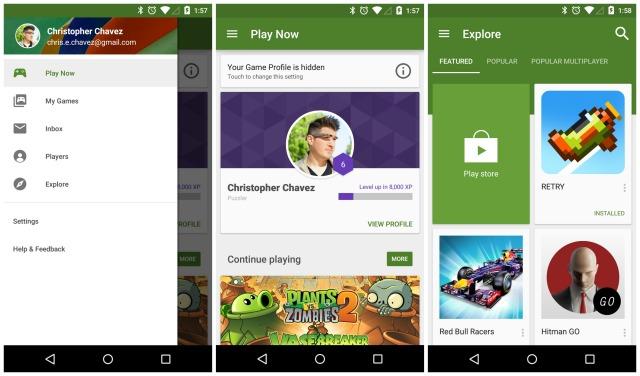 Google Play Games Material Design update
