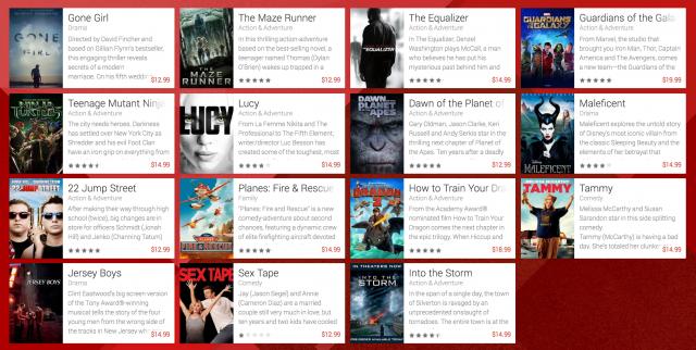Google Play Movies Preorder list
