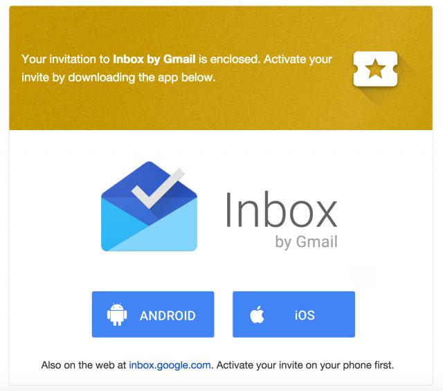 Gmail Inbox Invites as good invitations design