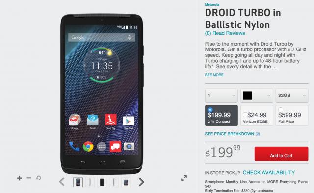Motorola DROID Turbo Verizon Wireless