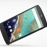 Nexus 5 homepage