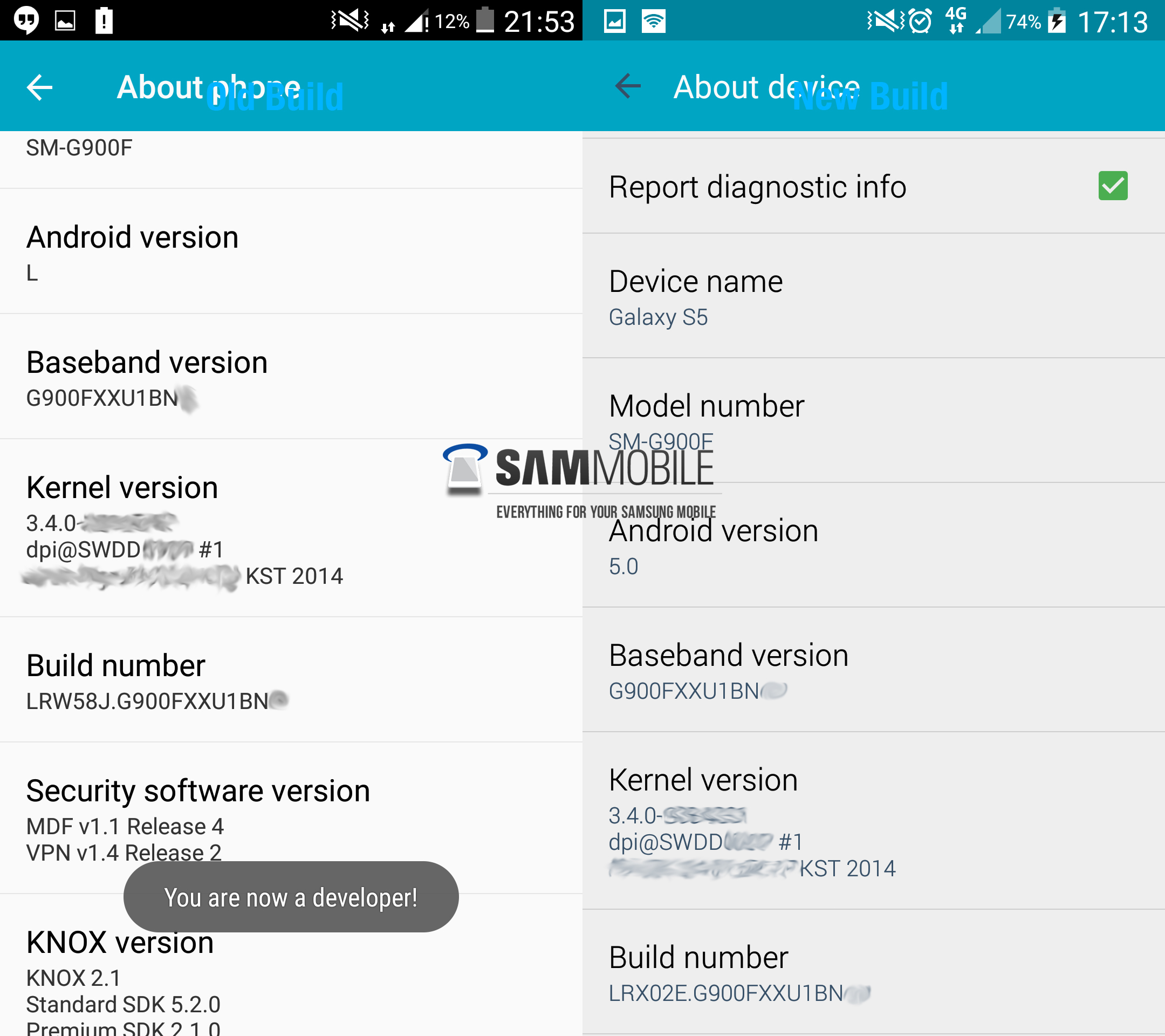 Samsung galaxy note 3 android 5 0 lollipop update leaks - Here S What Sammobile Noticed Was Changed From The Previous Leaked Lollipop Build