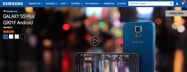 Samsung Galaxy S5 Plus Netherlands 1