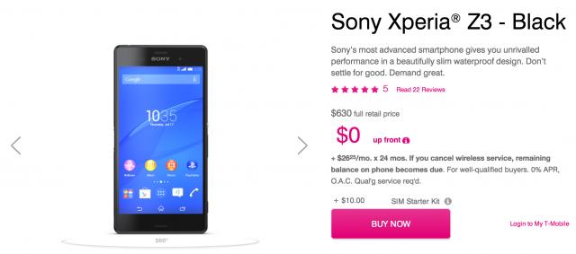 Sony Xperia Z3 T-Mobile