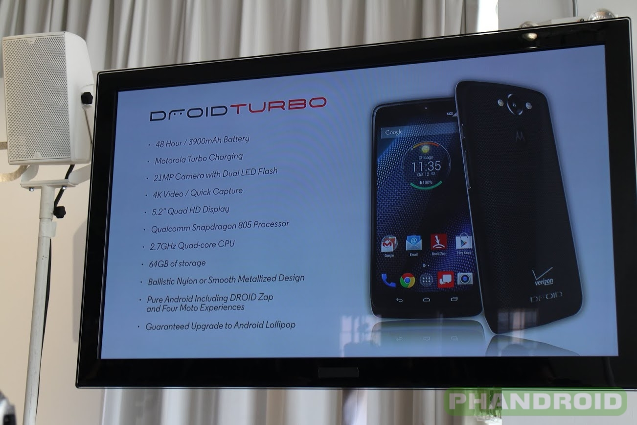 Verizon officially announces the Motorola DROID Turbo ...