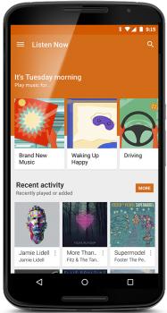 google play music redesign update