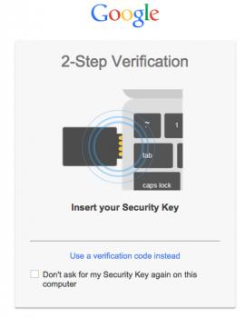 google u2f security key
