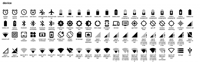 material device icons