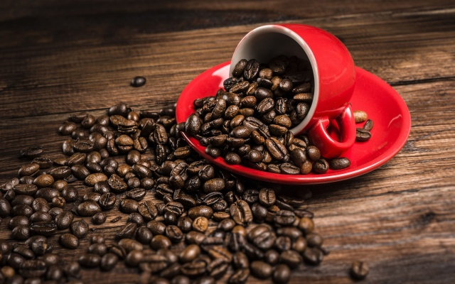 red_cup_and_coffee_beans