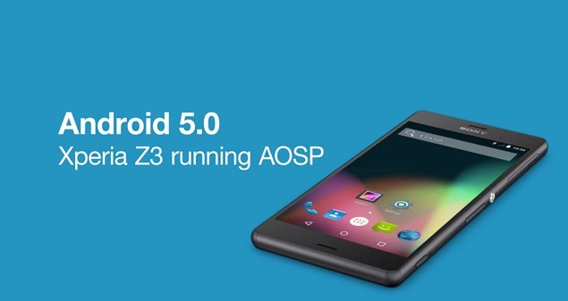 Android 5.0 Lollipop Sony Xperia Z3 AOSP