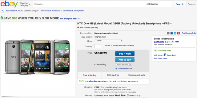 HTC One M8 eBay
