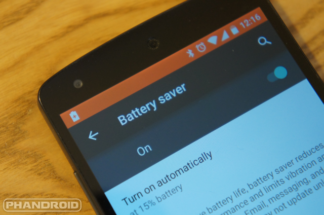 Lollipop battery saver