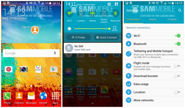 Samsung Galaxy Note 3 Android 5.0 Lollipop TouchWiz