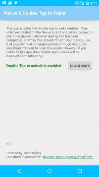 double tap to wake nexus 6 app