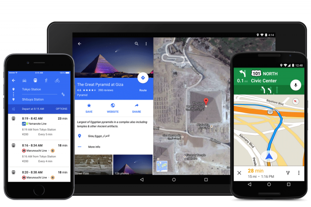 google maps material design update